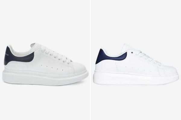 Nhiều tín đồ thời trang nhận xét đây chính là sự thay thế hoàn hảo cho đôi sneaker của Alexander McQueen. The Sun đưa tin, phiên bản giày nhái màu trắng đã hết hàng trên website EGO trong thời gian rất ngắn.