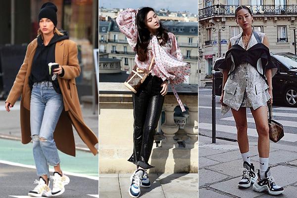 Mức độ phủ sóng của đôi giày này được chứng minh bằng việc hàng loạt fashion icon thế giới cùng đua nhau diện, bất chấp nhiều ý kiến tranh cãi về độ đẹp - xấu. Hailey Baldwin, Phạm Băng Băng, Aimee Song... mỗi người chọn một màu sắc khác nhau.