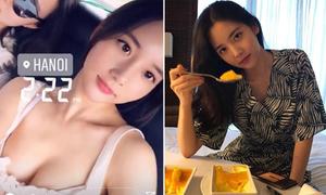 'Tình cũ hư hỏng' của T.O.P khoe vòng 1 bốc lửa khi đến Hà Nội