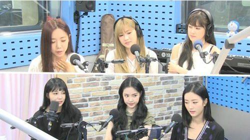 Na Eun (rẽ ngôi, ngồi giữa) nói rằng không kiêng ăn nhưng vòng eo tự nhỏ.