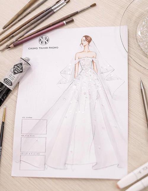 Hé lộ váy cưới giá trị khủng Tú Anh sẽ mặc trong hôn lễ - 1