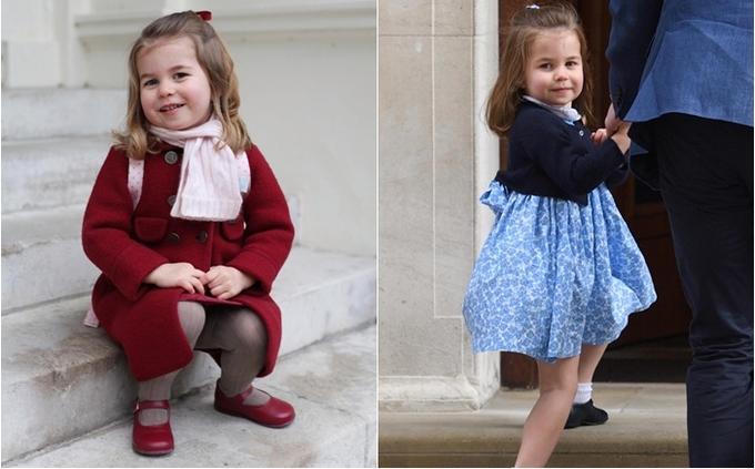 """<p> Cũng giống như """"hiệu ứng Meghan Markle"""", thời trang của Charlotte chính là lý do khiến cô bé có sức ảnh hưởng tới nền kinh tế.</p>"""