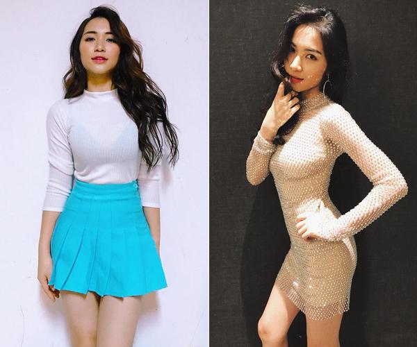 Đồ diễn của Hòa Minzy đi theo tiêu chí bó sát, dễ dàng khoe ba vòng.