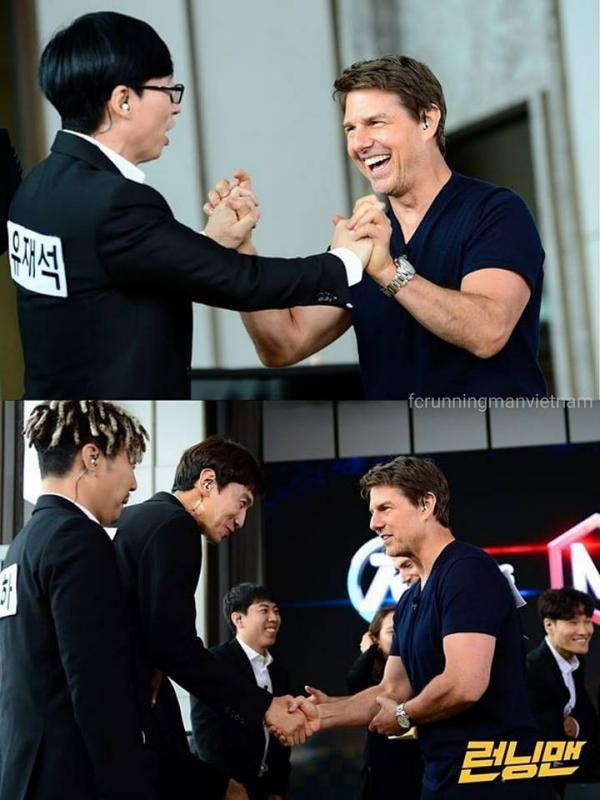 Các thành viên Running Man háo hức trước sự có mặt của khách mời đặc biệt đến từ Hollywood. (Ảnh: FC Running Man Vietnam).