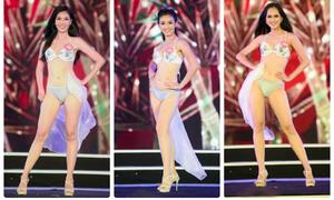 Thí sinh Hoa hậu Việt Nam khoe eo thon, dáng chuẩn với bikini