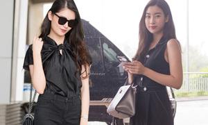 Dàn Hoa hậu, Á hậu đọ phong cách đẹp mắt ở sân bay