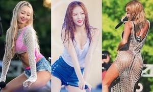 Loạt idol Hàn khoe hình thể nóng bỏng tại Waterbomb Festival