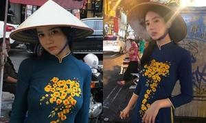 Bạn gái cũ của T.O.P bị chỉ trích mặc áo dài hút thuốc lá