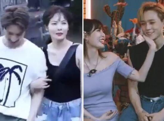 Hyun Ah thường có động chạm cơ thể với đàn em.