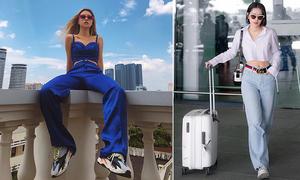 Chiếc quần 'hack' chiều cao đáng kể cho Quỳnh Anh Shyn, Chi Pu