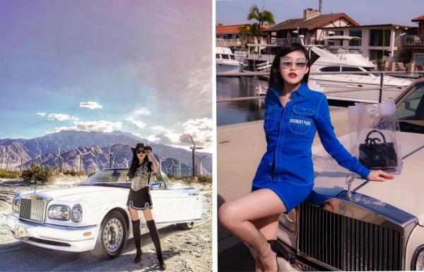Nguyễn Đặng Tiểu Giang (sinh năm 1993), hiện sống và làm việc tại Mỹ. Tiểu Giang là con gái của một đại gia đang buôn xe hơi thường và siêu xe tại Việt Nam. Cô nàng từngcó cơ hội trải nghiệm hơn 50 dòng siêu xe từ Huracan, Bentley, Rolls Royce đến Maserati... Hè năm nay, Tiểu Giangcheck-in khắp các địa điểm nghỉ dưỡng nổi tiếng của Mỹ, từ Las Vegas đến Malibu cô nàng đều đã ghé đến.