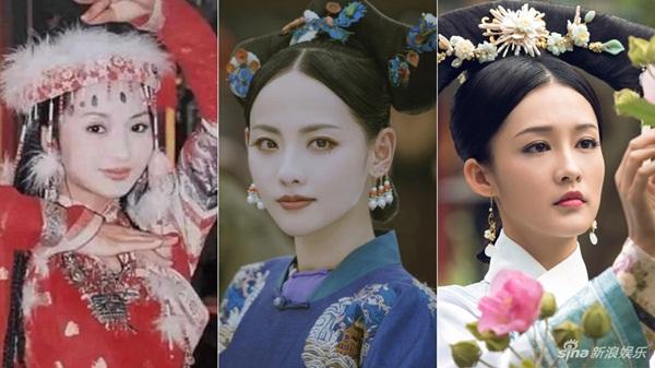 Trương Gia Nghê đóng vai Trầm Bích (giữa) có cùng hình mẫu Dung phi Hà Trác Thị với nhân vật Hàn Hương Kiến của Lý Thấm trong Như Ý truyện, cũng chính là Hương phi (Lưu Đan đóng) trong Hoàn Châu cách cách.