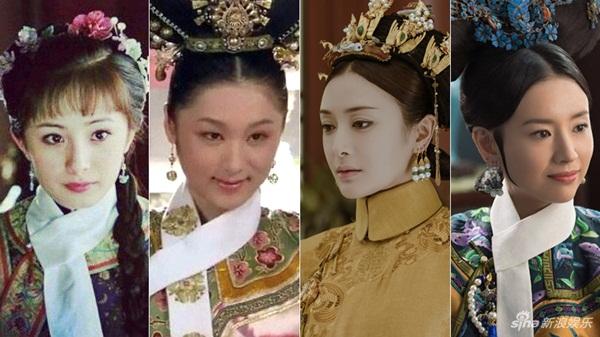 Tần Lam (thứ hai từ phải sang) đóng vai Hiếu Hiền Thuần Hoàng hậu Phú Sát Thị trong Diên Hy công lược. Nhân vật này từng được Dương Mịch, Viên Nghệ, Đổng Khiết thể hiện trong Thượng thư phòng, Chân Hoàn truyện và Như Ý truyện.