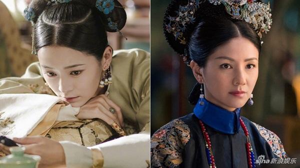 Nhân vật Thuần phi của Vương Viện Khả trong Diên Hy công lược (trái) và Tô Lục Quân của Hồ Khả trong Như Ý truyện đều có hình mẫu từ Thuần Huệ Hoàng quý phi Tô Thị.