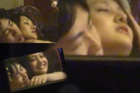 Năm 2015, Trịnh Sảng bị paparazi chụp lén cảnh ngồi vào lòng bạn trai, ôm ấp thân mật ở nhà.