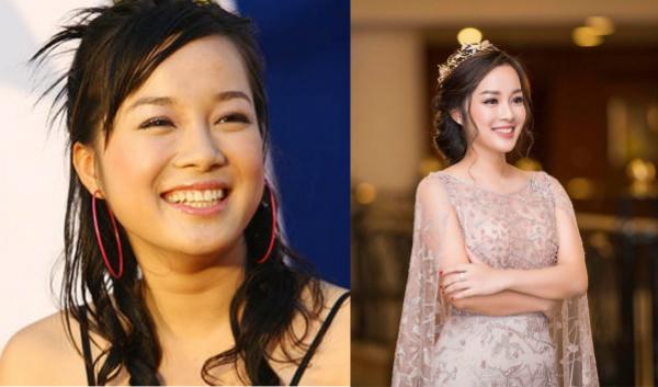 Minh Hương vẫn giữ nét tươi trẻ và nụ cười rạng rỡ.