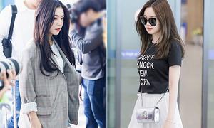 5 kiểu đồ vừa thoải mái vừa sành điệu của sao Hàn khi ra sân bay