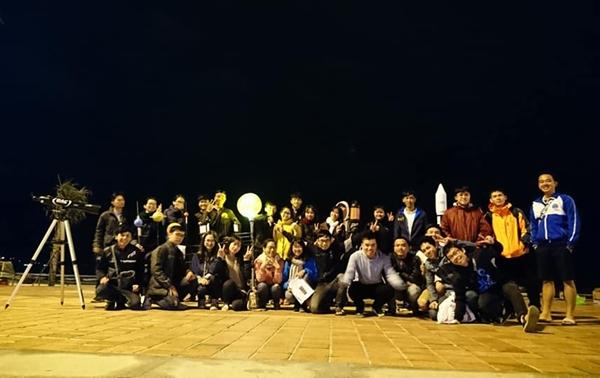 Các thành viên CLB Thiên văn Đà Nẵng.