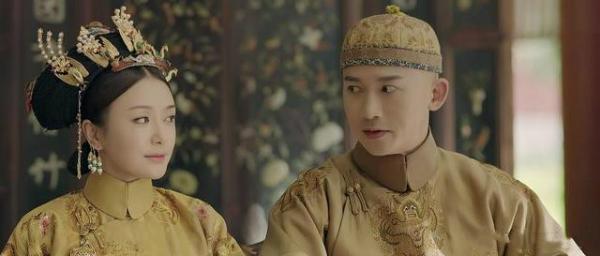 Trong phim, tình cảm của Càn Long và Phú Sát hoàng hậu rất tốt.