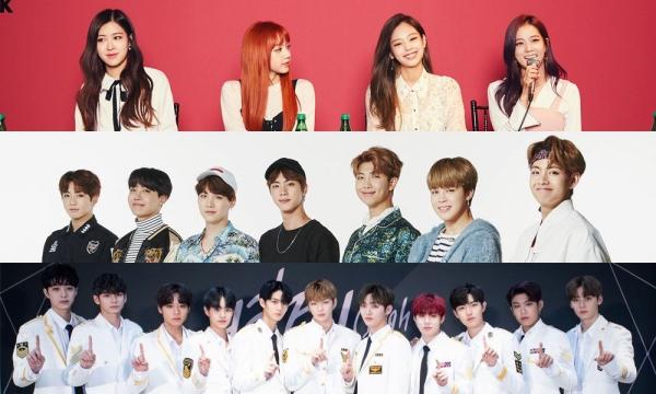 Top 3 nhóm nhạc nổi tiếng nhất tại Hàn Quốc tháng 7.