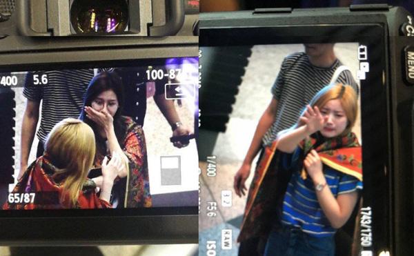 Twice nghẹn ngào ở sân bay trong vòng tay fan.