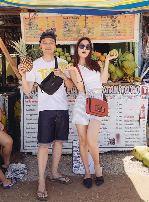 Diễm My 9x và Quang Vinh trông rất đẹp đôi khi cùng đi du lịch.