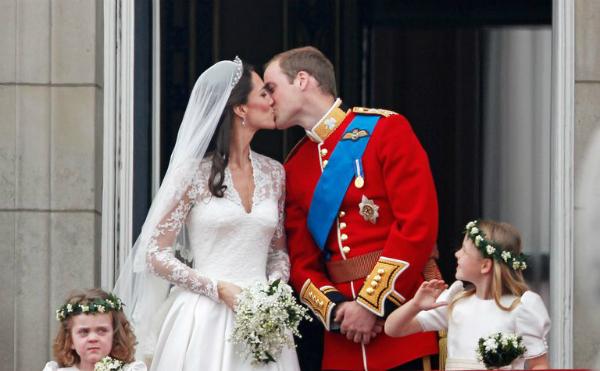 Hoàng tử William và Kate tại hôn lễ thế kỷ ngày 29/4/2011.
