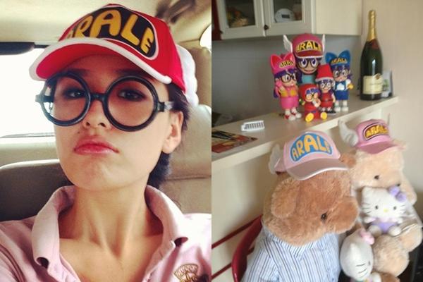 Mai Phương Thúy thích Doraemon, Arale: Bên cạnh những món đồ hàng hiệu có giá lên tới vài trăm triệu, Hoa hậu Việt Nam 2006 có sở thích sưu tập các món đồ liên quan tới Doraemon và Arale - hai nhân vật hoạt hình được nhiều bạn trẻ yêu thích.