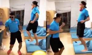 Cười sặc với điệu nhảy bá đạo của Bùi Tiến Dũng - Hà Đức Chinh
