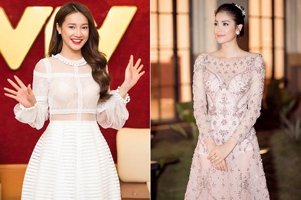 Trong trường hợp diện váy xuyên thấu, các người đẹp nên học hỏi cách diện nội y dạng bratop như Nhã Phương hay thậm chí là mặc một lớp bodysuit rất kín đáo như Phạm Hương ở phía trong.