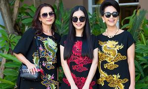 Mỹ nhân Việt ba thế hệ đẹp đều với cùng một kiểu đầm