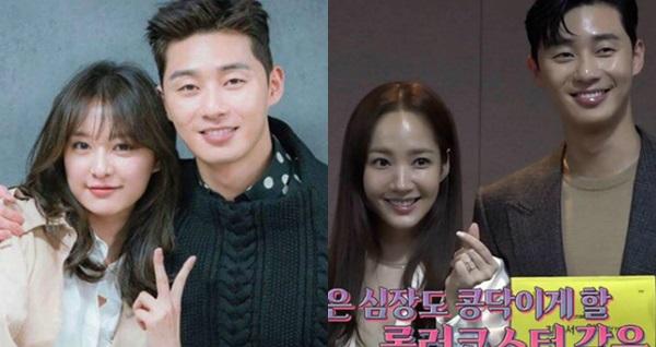 Fan so sánh sự khác biệt trong hành động củaPark Seo Joon trong buổi đọc kịch bản cùng Kim Ji Won và Park Min Young.