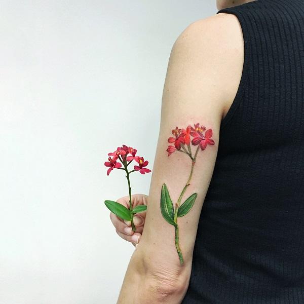 Tuyển tập hình xăm hoa cỏ tuyệt đẹp đầy tính nghệ thuật dành cho phái nữ - 3