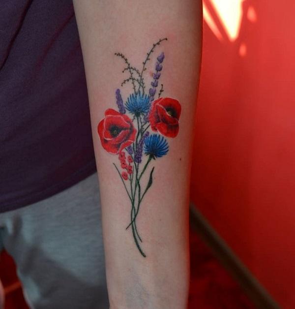 Tuyển tập hình xăm hoa cỏ tuyệt đẹp đầy tính nghệ thuật dành cho phái nữ - 2