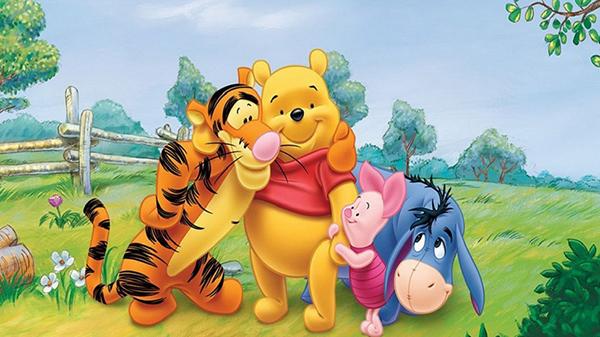 Chú gấu Pooh đáng yêu và những người bạn.