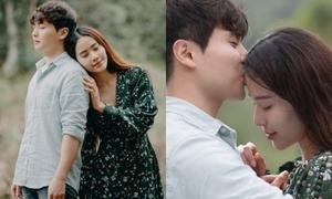 Nam Em được 'trai lạ' Hàn Quốc ôm hôn ngọt ngào