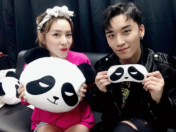 Dara nhiệt tình cổ vũ cho album solo của Seung Ri với hình ảnh gấu trúc đáng yêu (biệt danh của Seung Ri).