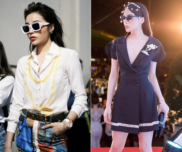 Cô nàng thường đầu tư tiền tỷ cho mỗi bộ quần áo dự show thời trang. Những món phụ kiện đẳng cấp để điểm tô cho trang phục như kính mắt, thắt lưng, đồng hồ... là không thể thiếu.