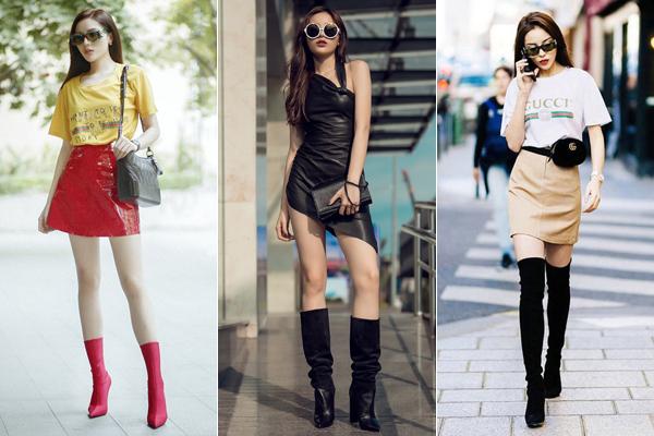 Cá tính, sang chảnh, hàng hiệu đầy ắp là những tiêu chí của Kỳ Duyên khi chọn đồ ra phố. Street style của người đẹp thường là các kiểu áo phông hàng hiệu đi kèm chân váy ngắn gọn gàng, các kiểu váy liền đơn giản... nhưng đều có giá trên trời.