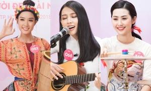Thí sinh Hoa hậu Việt Nam xinh đẹp khoe tài năng