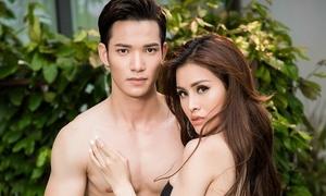 Á hậu Thư Dung khoe 3 vòng nóng bỏng bên trai đẹp