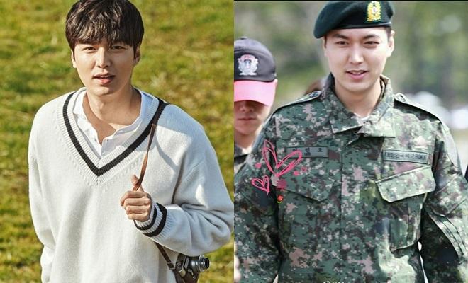 <p> Trước khi nhập ngũ, Lee Min Ho từng nhiều lần gặp phải rắc rối vì chuyện tăng cân mất kiểm soát. Hình ảnh xuất hiện trong quân đội rò rỉ mới đây cũng cho thấy, tài tử <em>Vườn sao băng </em>đã tăng cân khá nhiều.</p>