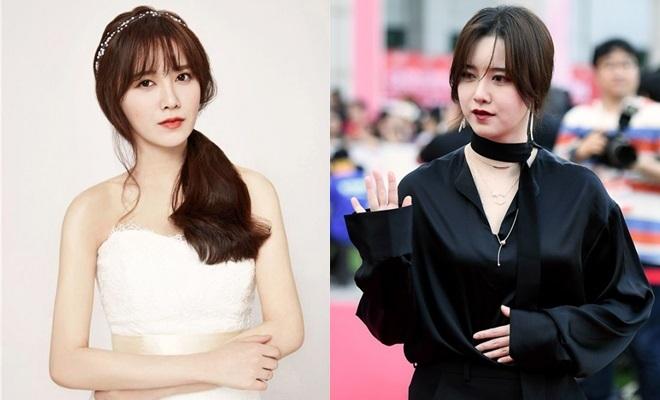 """<p> Có mặt trong một sự kiện sau thời gian dài trị bệnh, Goo Hye Sun khiến fan ngã ngửa với gương mặt cứng đơ, sưng phồng. Nhiều nguồn tin cho biết """"nàng Cỏ"""" đã tăng gần 10kg. Sau đó cô giải thích bản thân tăng cân mất kiểm soát là vì ăn quá nhiều cơm.</p>"""
