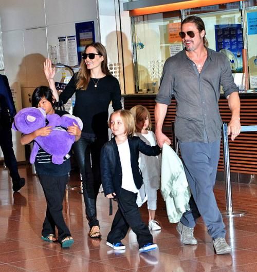 Brad Pitt và Angelina Jolie thời còn hạnh phúc.