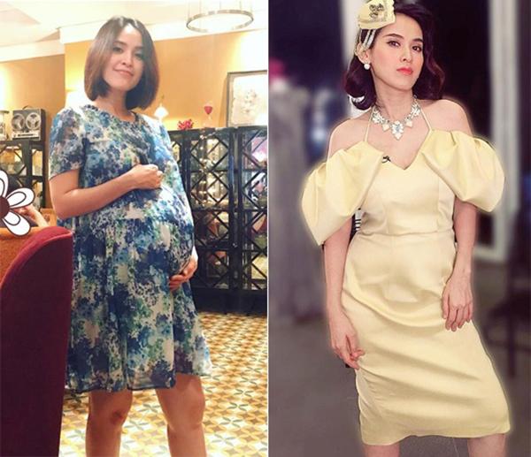 Tú Vi - Văn Anh cũng vừa đón con đầu lòng cách đây không lâu. Chỉ khoảng 2 tuần sau khi sinh con, Tú Vi đã giảm được 9kg.