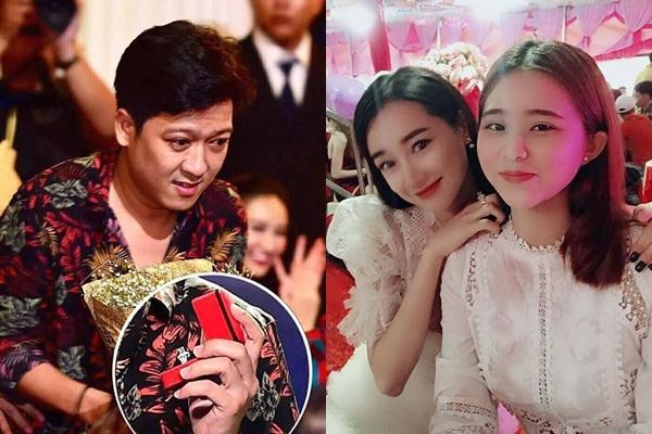 Nhã Phương đeo nhẫn cầu hôn Trường Giang tặng.