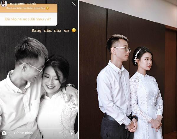 Mới đây trên tài khoản instgram, Thanh Huyền - bạn gái Rhymastic đã chia sẻ bức ảnh trong buổi lễ dạm ngõ khiến fan đứng ngồi không yên. Bên cạnh những lời chúc phúc dành cho cặp đôi, nhiều người để lại lời khen cho nhan sắc của cô dâu xinh đẹp.
