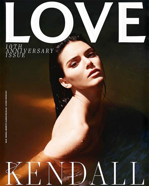 Chân dài Kendall Jenner là gương mặt trang bìa số mới nhất của tạp chí LOVE.