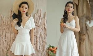 Khánh Linh The Face khoe dáng với loạt váy cắt xẻ