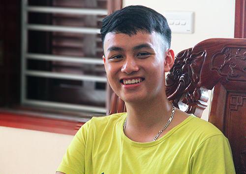 Thủ khoa khối A01-Học viện Cảnh sát nhân dân Trần Dũng Lộc. Ảnh: Đức Hùng